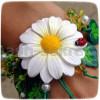 Летний  цветочный браслет из полимерной глины: пошаговый фото мастер-класс