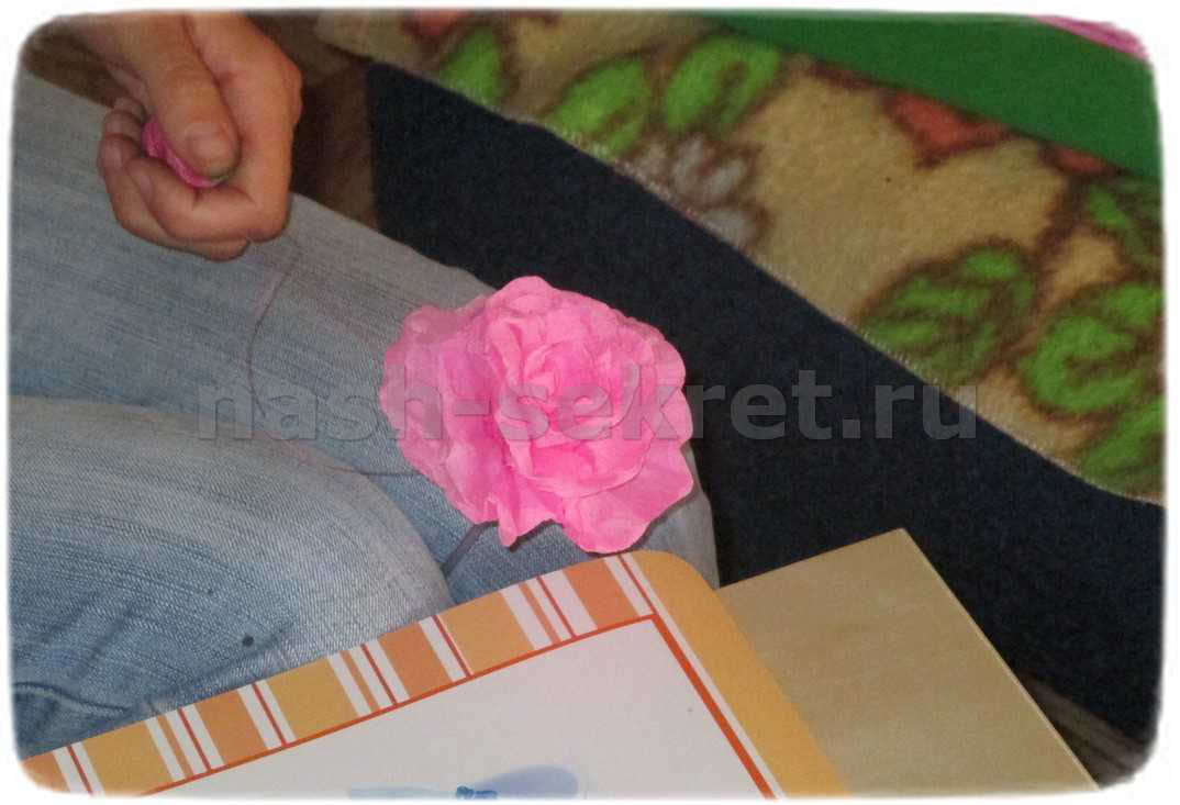 роза бумажная