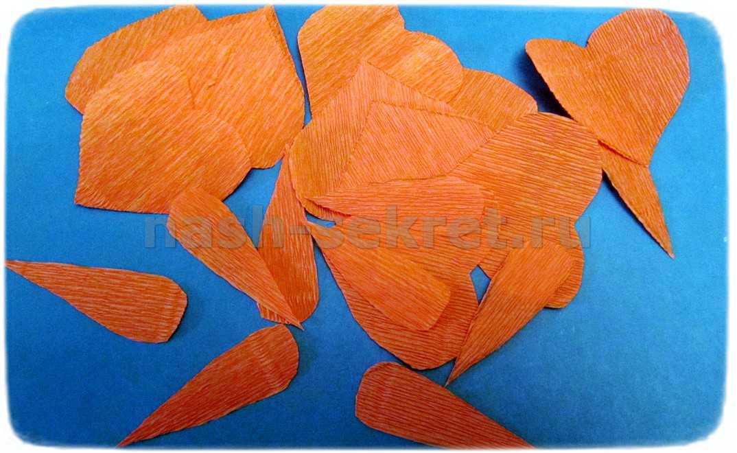 Цветочные лепестки из бумаги