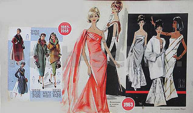 модные вечерние платья 50-х