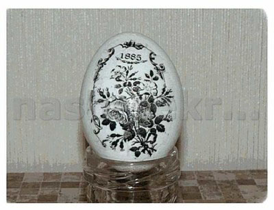 декупаж яйцо