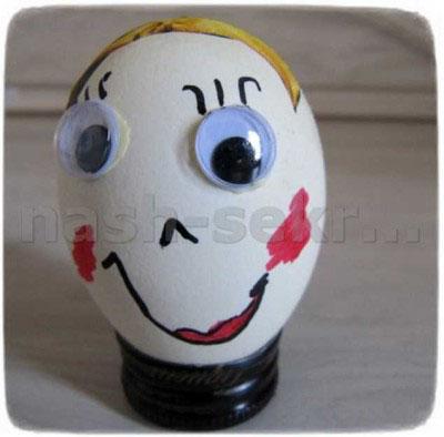 яйцо с мордашкой