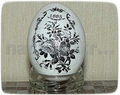 Декупаж пасхальных яиц под старину