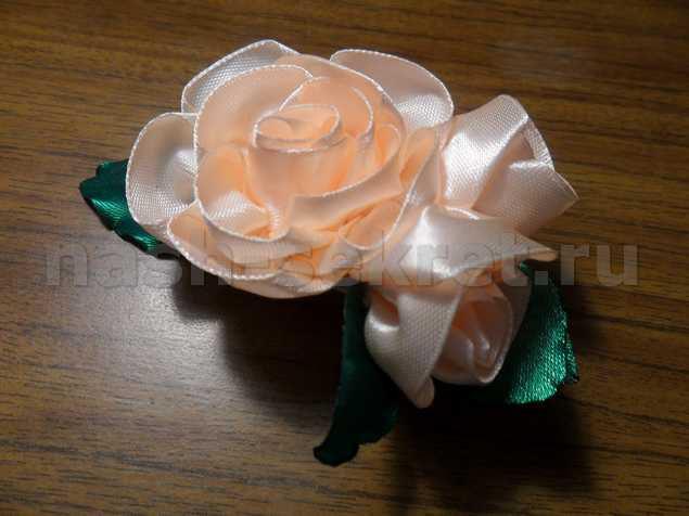 розы из атласных лент мастер класс