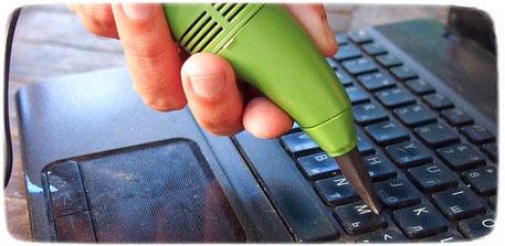 как самому почистить ноутбук от пыли