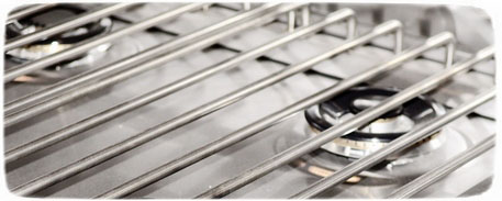 стальная решетка на плиту