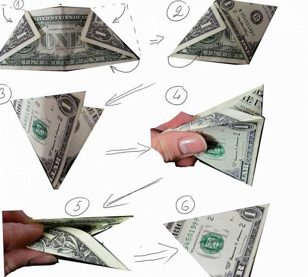 как правильно сложить доллар