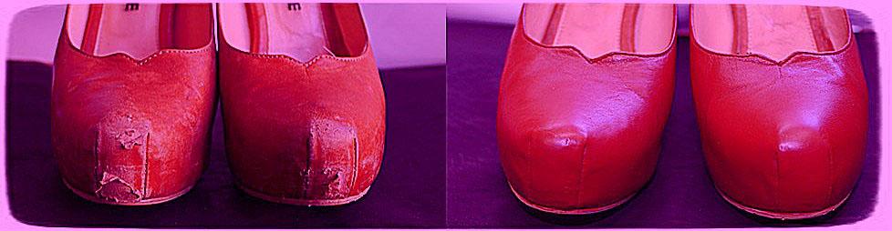реставрация обуви жидкой кожей