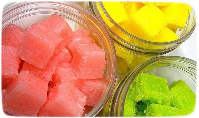 сахарный скраб из мыльной основы фото