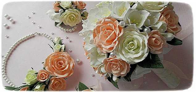 из цветков фоамирана