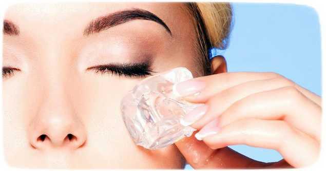как применять косметический лед для глаз