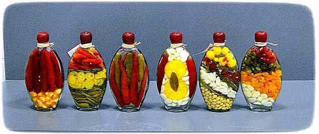 варианты наполнения бутылок