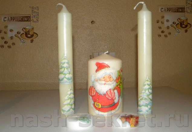 Новогодние свечи мк