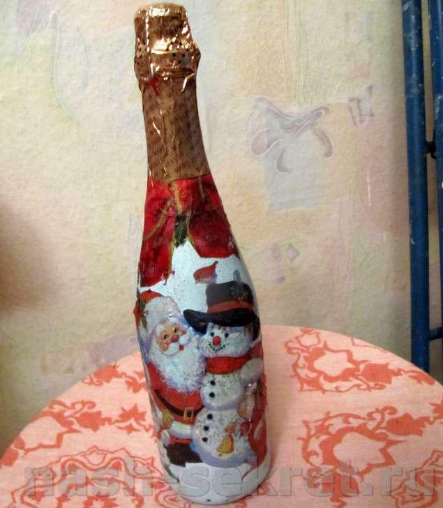 Декупаж бутылок пошаговая инструкция