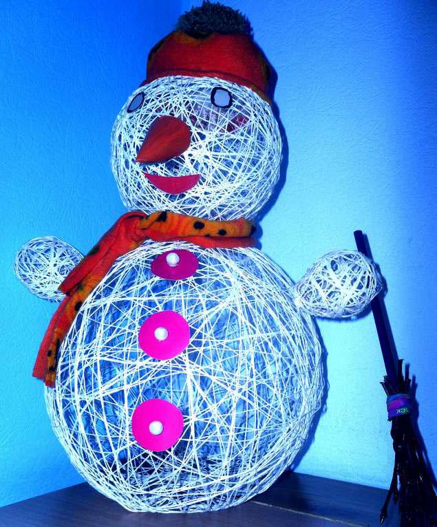 снеговичек своими руками