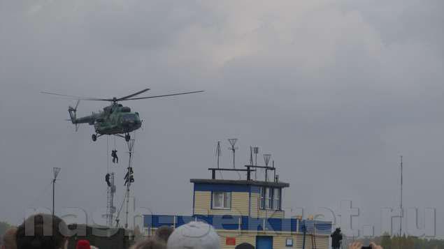освобождение заложников с вертолета