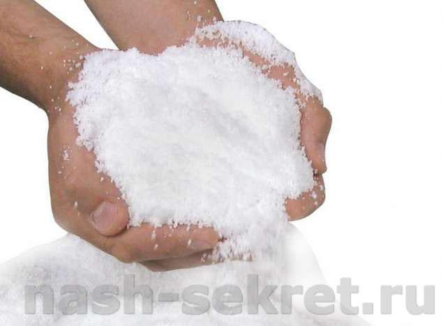 искусственный снег для декора своими руками
