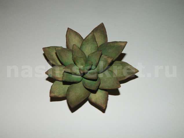 каменный цветок своими руками