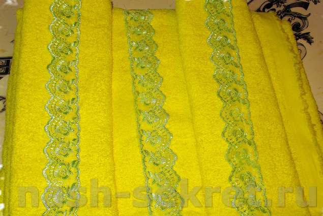 Как сшить махровое полотенце своими руками