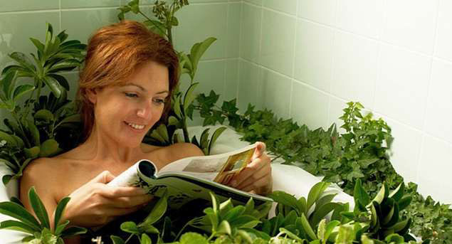 С какими травами принять ванну