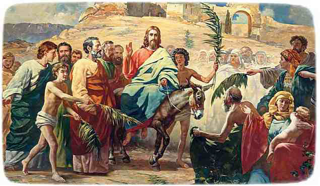 Пасха: Иисус на осле