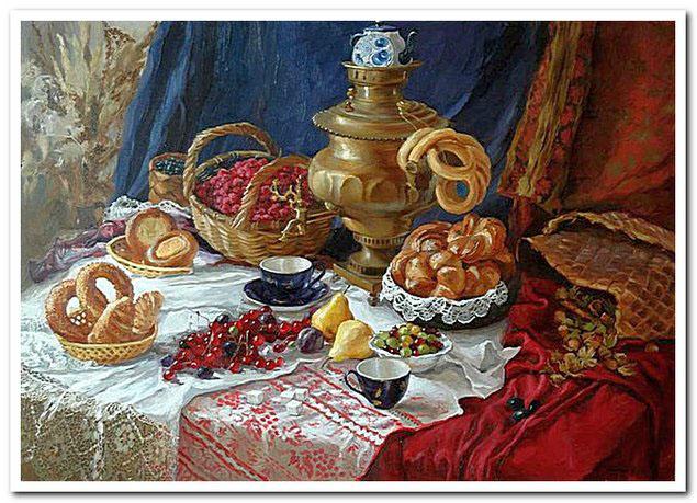 Русский самовар на чаепитии