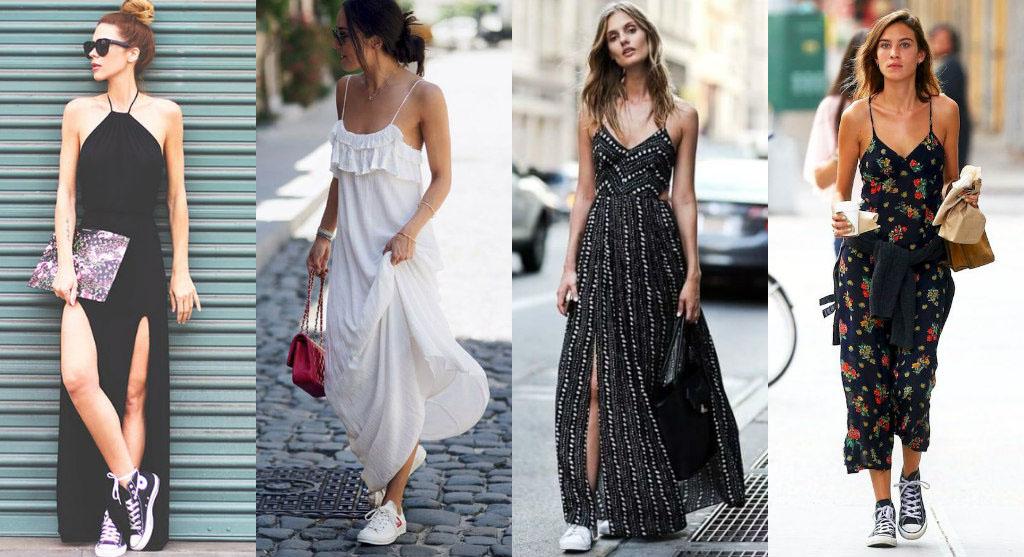 Какие кроссовки можно носить с платьем