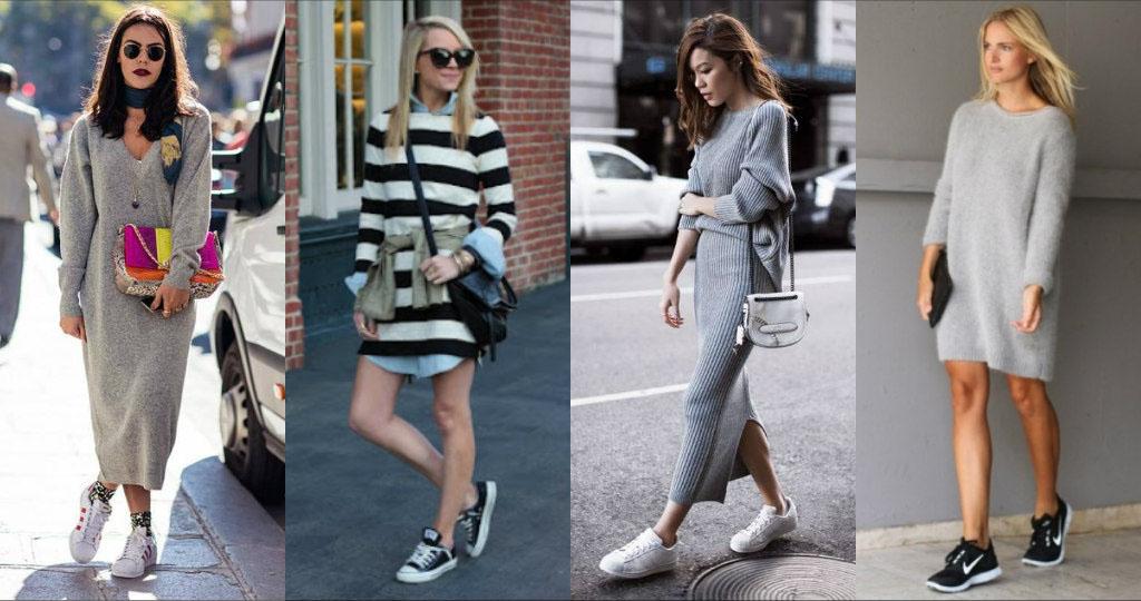 с платьями-свитерами