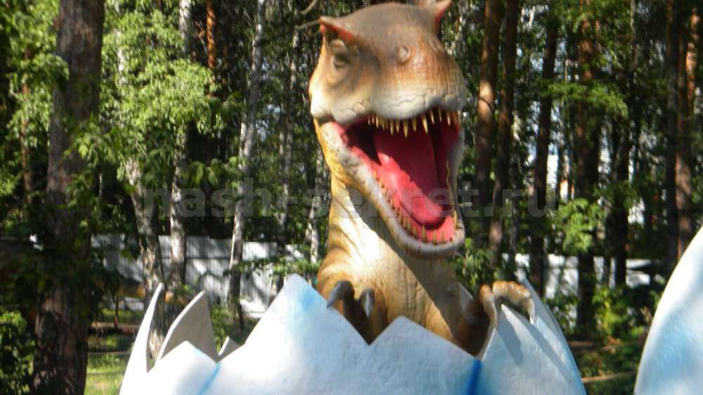 Динозавры в Челябинске парк Гагарина