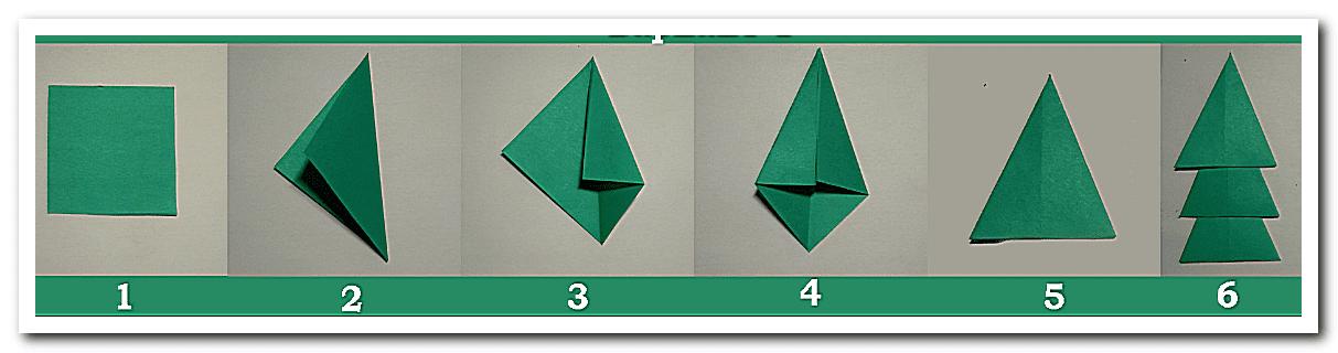 Аппликация елочка из цветной бумаги для детей