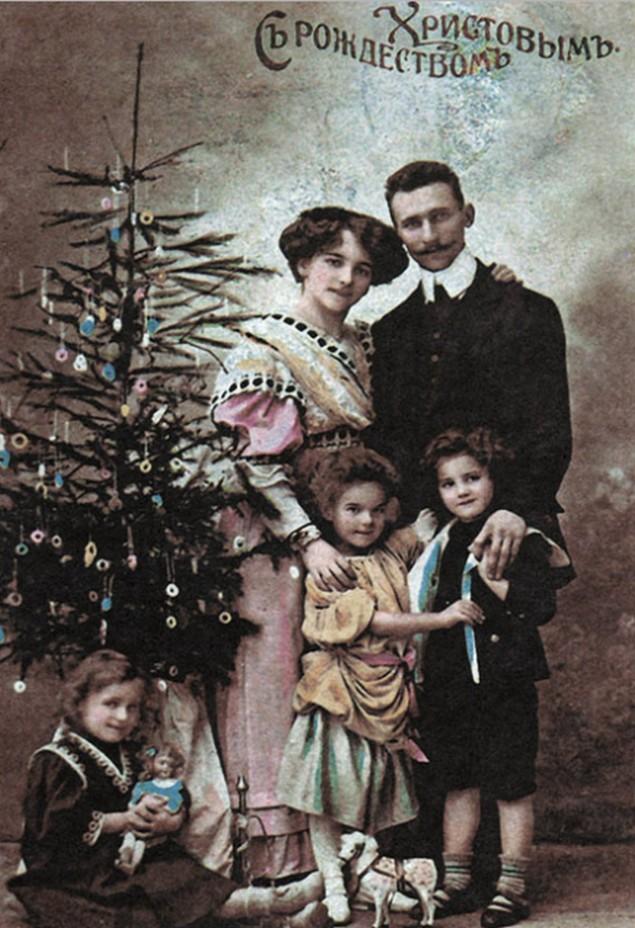 Первые новогодние открытки