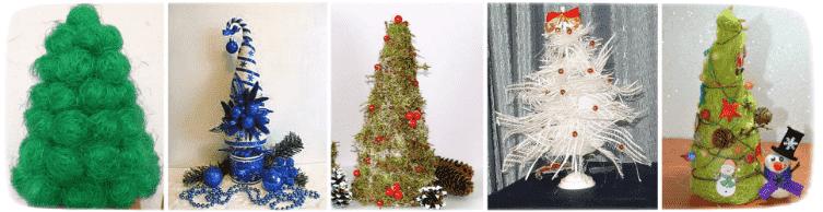новогодние елки своими руками с детьми