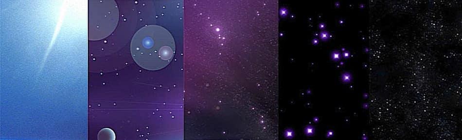 Звездное небо в разных слоях атмосферы