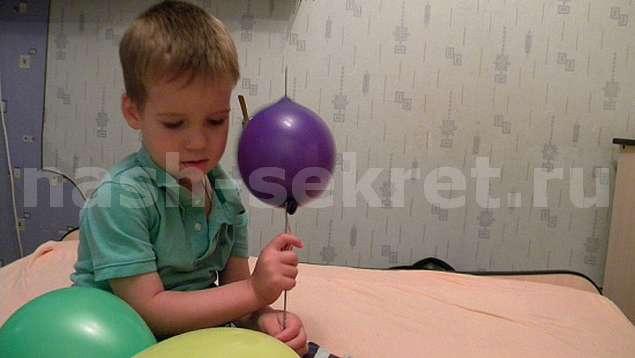 Как проткнуть воздушный шарик и не лопнуть его