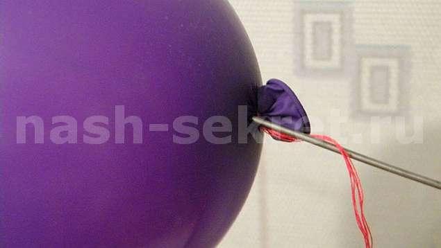 Фокус с воздушным шариком